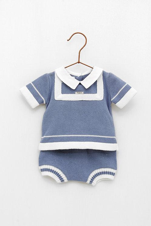 Conjunto Bebé Marinero Azul