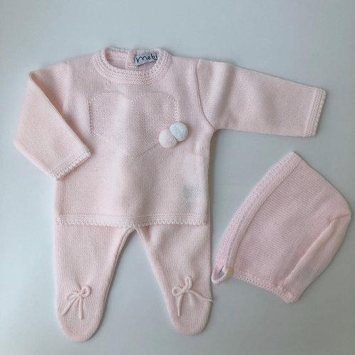 Conj. Bebé 3 piezas Rosa