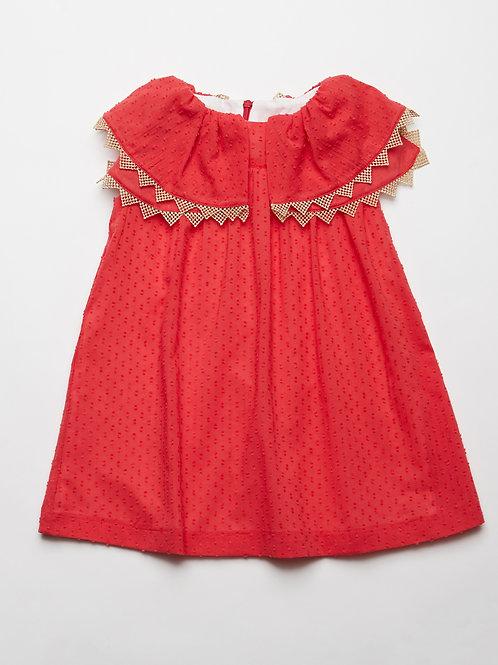 Vestido Plumetti Rojo