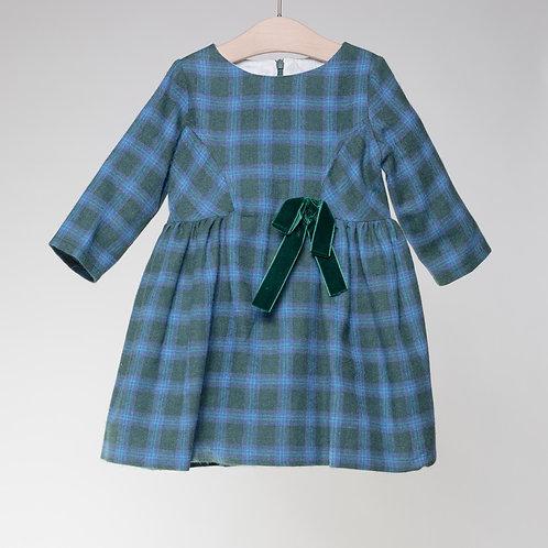 Vestido Cuadros Escoceses Verde