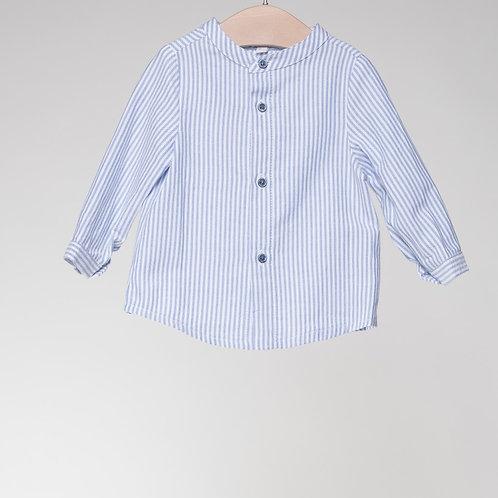 Camisa Rayas Oxford Azul