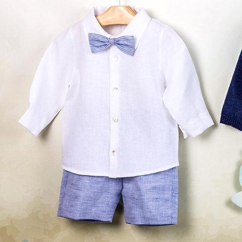 Conjunto Bermuda-Camisa-Pajarita