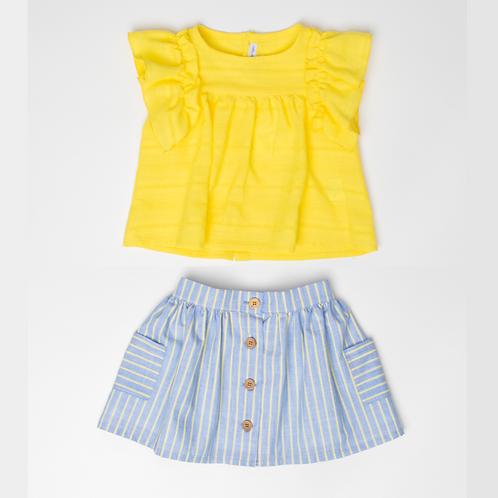 Falda rayas con amarilla