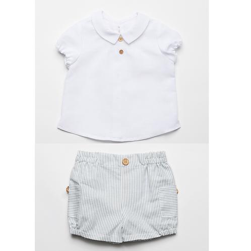 Camisa con Bermuda Rayas