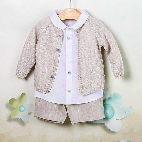 Conjunto Bermuda-Camisa-Suéter