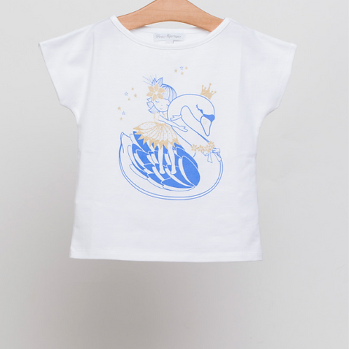 Camiseta algodón cisne