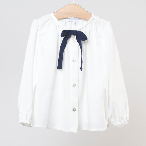 Blusa viscosa con lazo
