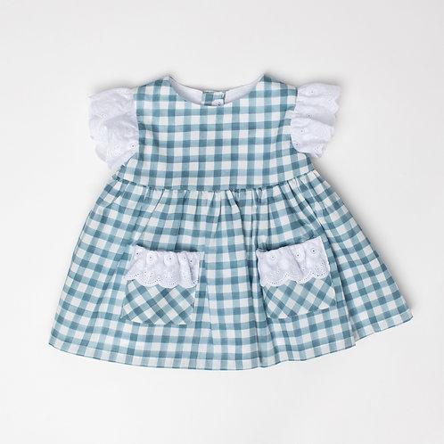 Vestido Vichy Aqua