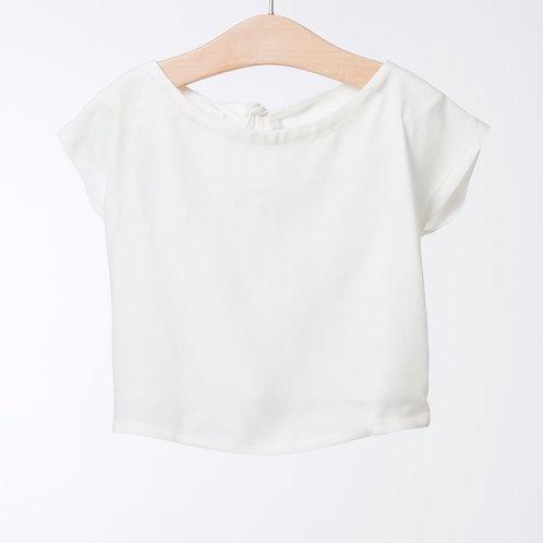 Blusa corta offwhite