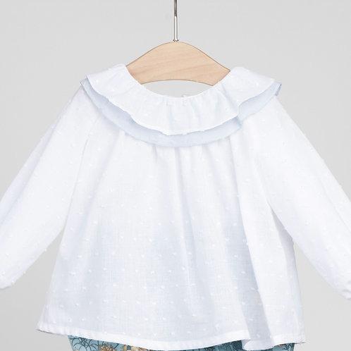Blusa de Plumetti con doble cuello