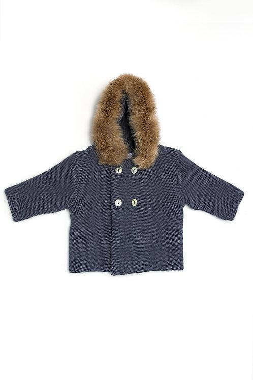 Abrigo corto Capucha Punto y Pelo