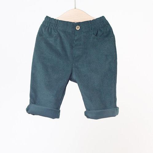 Pantalón Micro-pana Verde