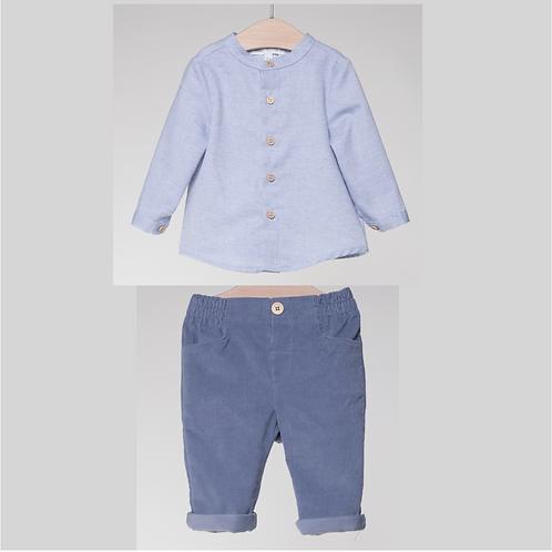 Conjunto de Pantalón de Pana y Camisa Oxford