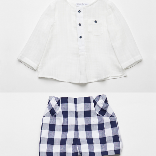 Camisa con Bermudas Vichy