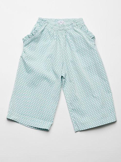 Pantalon Tobillero ancho con blusa bordada