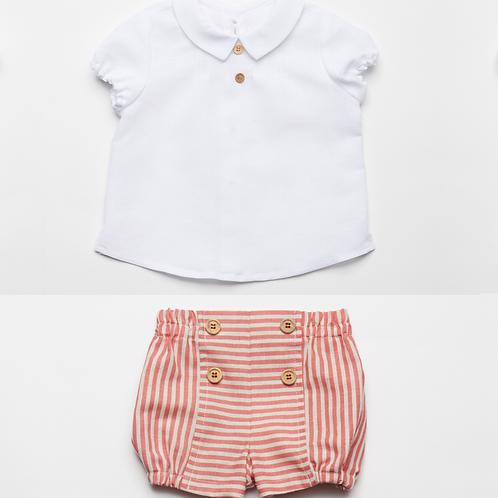 Conj. Camisa y Bombacho Rayas
