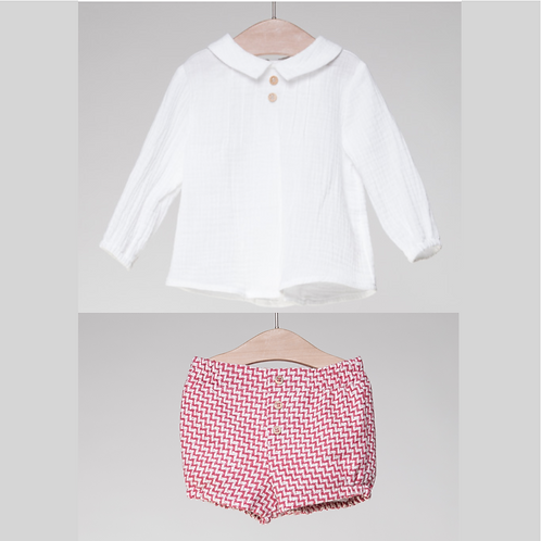 Conjunto de Camisa y Bermuda Tweed