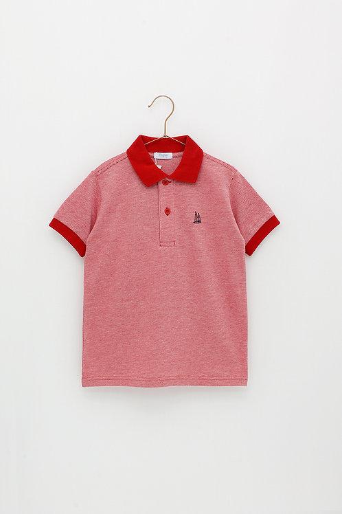 Polo Rojo Jaspeado