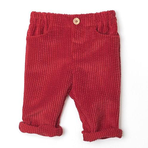 Pantalón Pana Rojo