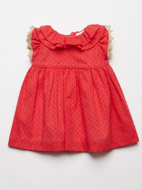 Vestido Bb Plumetti Rojo