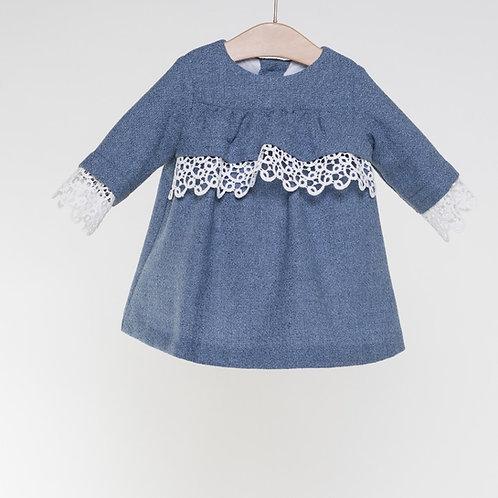 Vestido BB Azul guipure