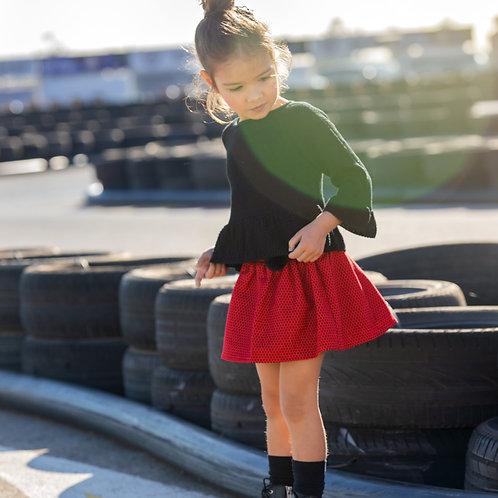Falda Roja Motitas