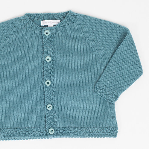 Suéter abierto Verde