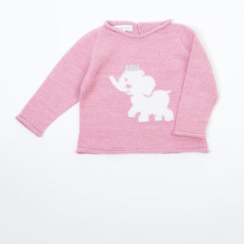 Suéter Elefante Rosa