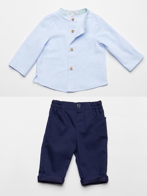 Camisa Oxford y Pantalón Marino