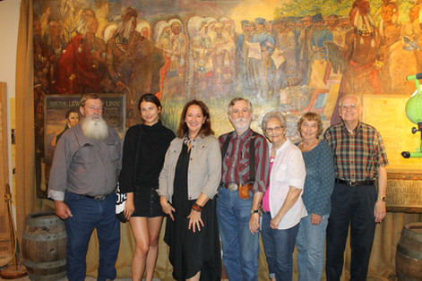 UNVEILING Friends of Museum at Mural.JPG