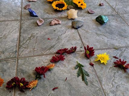 Flower Heart Grid at retreat