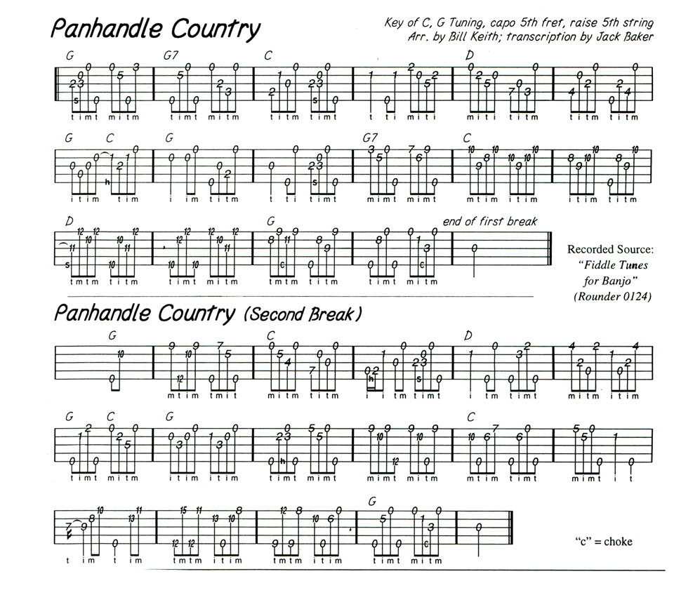 Banjo Tab by Jack R. Baker