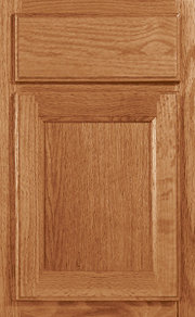 Hampton Square Oak Natural Stained Cabinet