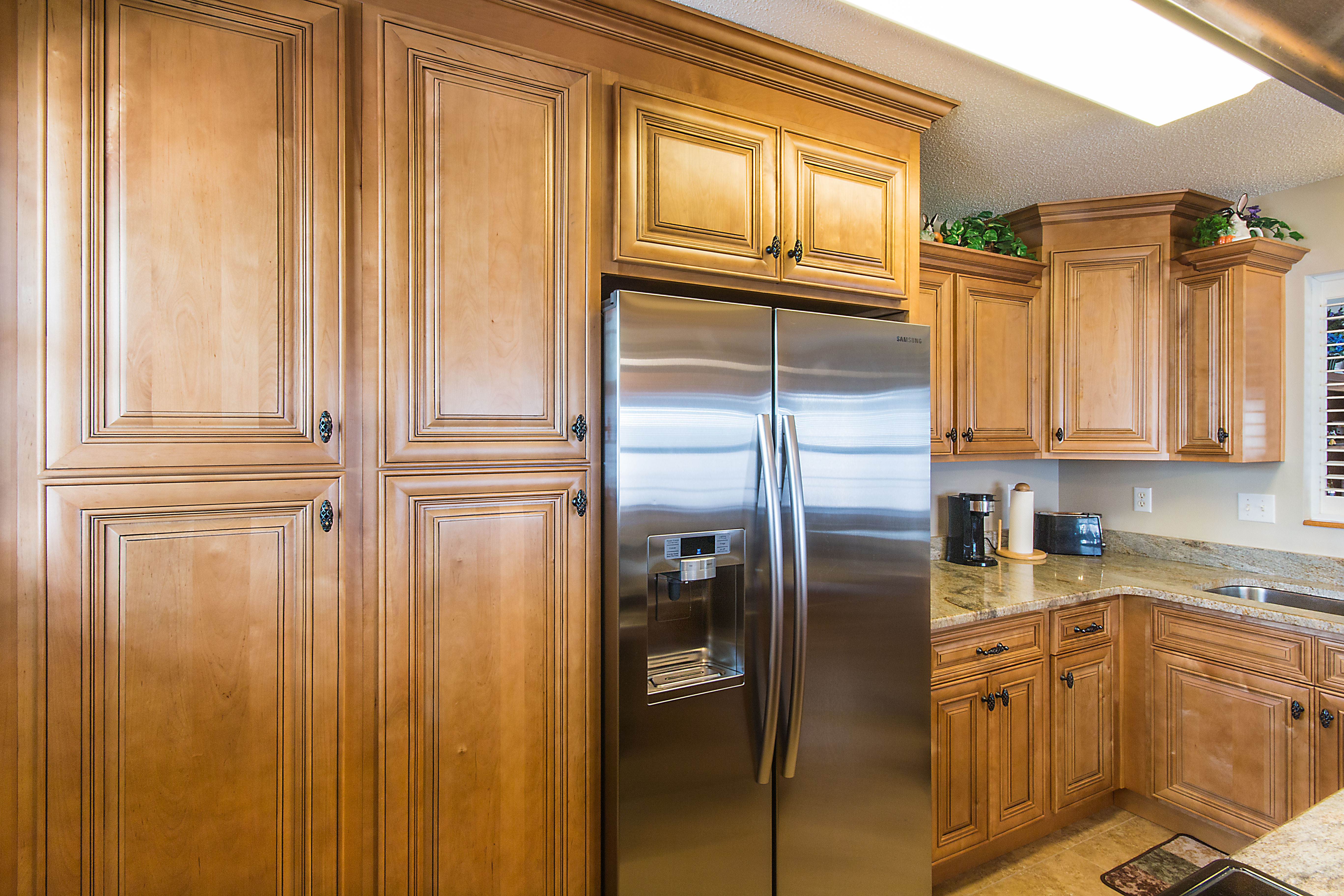 Mocha Pantry Cabinets