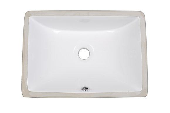 Rectangle White Undermount Vanity Sink