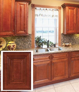 All Plywood Cherry Glaze RTA Cabinets comes assembled or unembarrassed. Standard High End Features at a low, affordable price