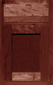 Layton Shaker Cabinet with Spiceberry Stain
