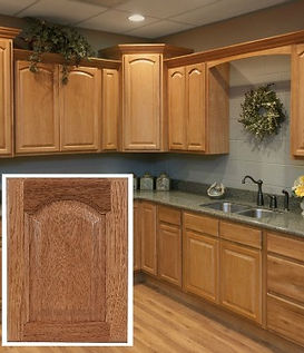All Plywood Legacy Oak RTA Cabinets comes assembled or unembarrassed. Standard High End Features at a low, affordable price