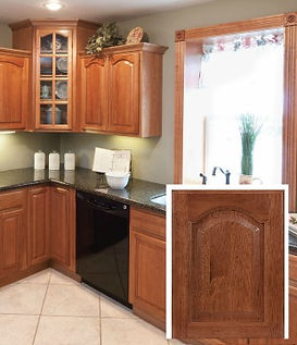 All Plywood Hickory Cathedral RTA Cabinets comes assembled or unembarrassed. Standard High End Features at a low, affordable price