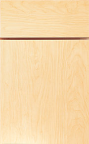 Natural Maple Slab Front Laminate Cabinet