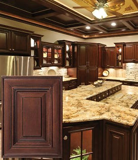 All Plywood Bristol Chocolate RTA Cabinets comes assembled or unembarrassed. Standard High End Features at a low, affordable price