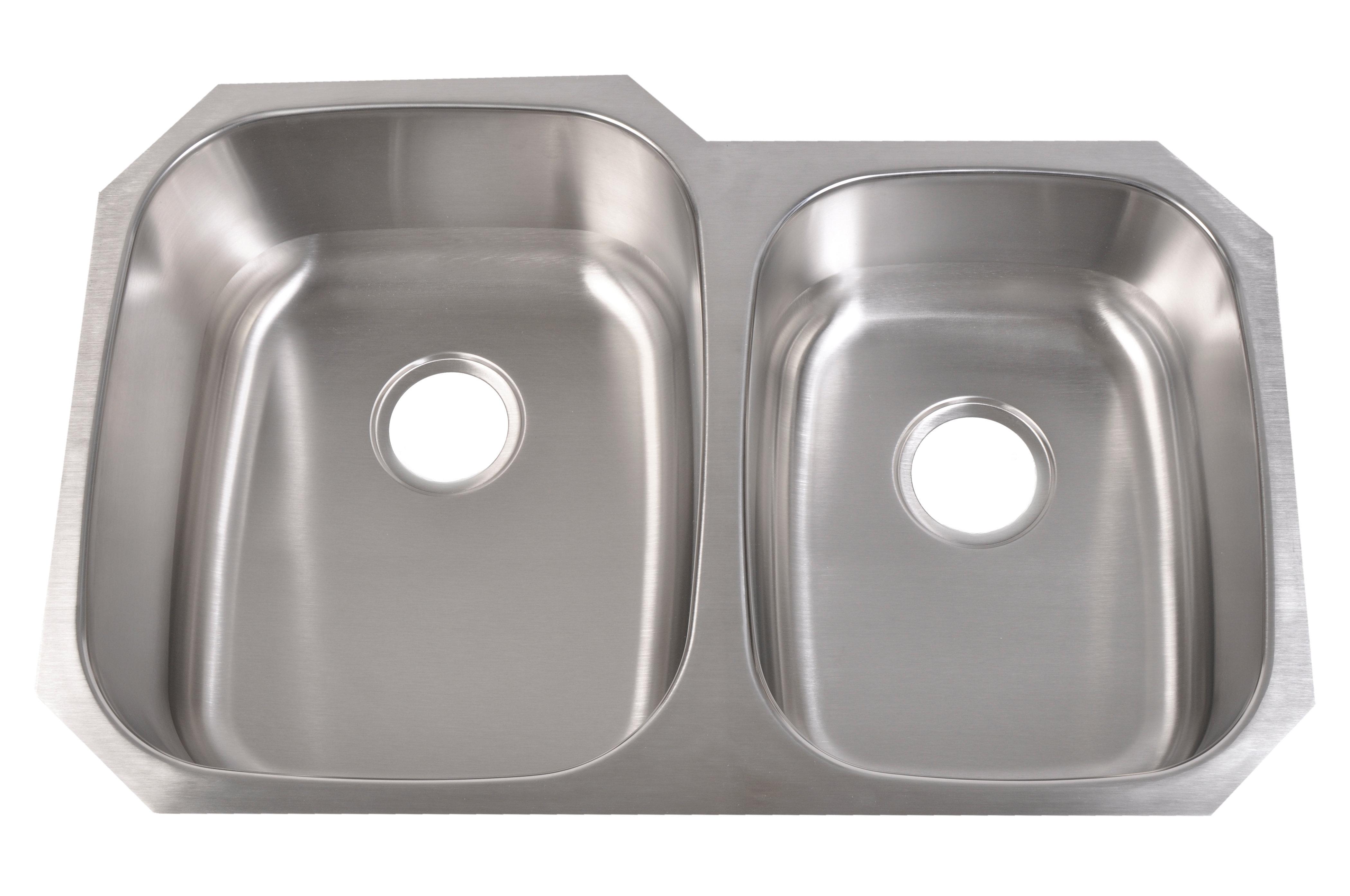 Standard Radius Undermount 60/40 Sink | bt-kitchen-and-bath