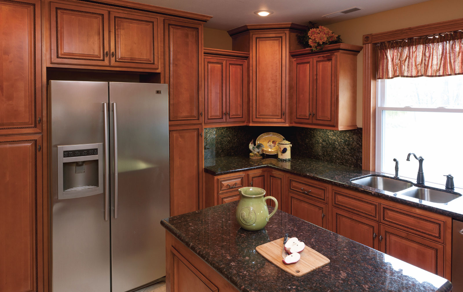 Rope Cabinets With Tan Brown Granite