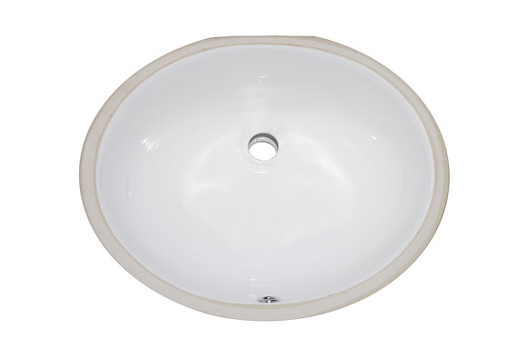 Oval White Undermount Vanity Sink