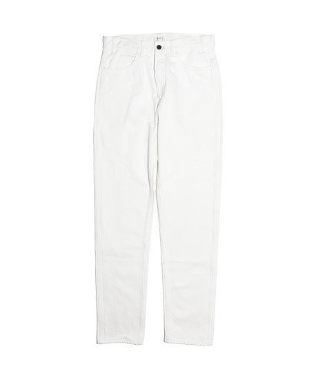 ホワイト スビンコットン 13,5oz スリムデニム メンズ ホワイト(ONE WASH)