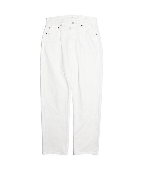 ホワイト スビンコットン 13.5oz ストレートデニム  メンズ ホワイト(ONE WASH)