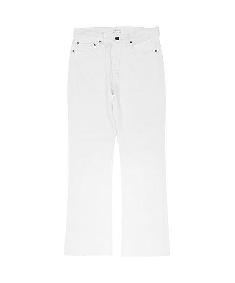 ホワイト スビンコットン 13.5oz フレアデニム  メンズ ホワイト(ONE WASH)