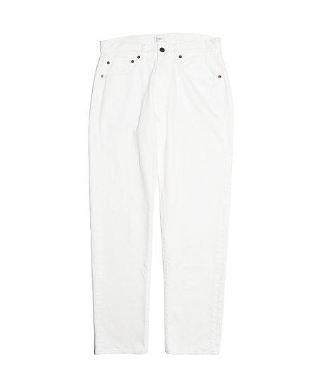 ホワイト スビンコットン 13,5oz テーパードデニム  メンズ ホワイト(ONE WASH)