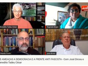 AO VIVO AGORA, ZÉ DIRCEU PARTICIPA DE DEBATE SOBRE AS AMEAÇAS À DEMOCRACIA E A FRENTE ANTIFASCISTA