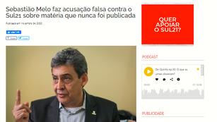 ATAQUE DE SEBASTIÃO MELO AO SUL21 DEMONSTRA DESRESPEITO AOS JORNALISTAS E À MÍDIA ALTERNATIVA